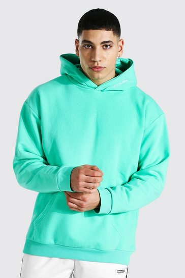Jade green Oversized Man Official Heavyweight Hoodie