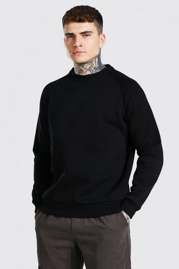 Black Heavyweight Raglan Sweatshirt