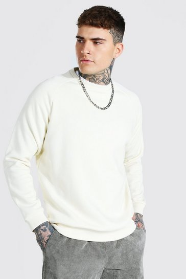 Ecru white Heavyweight Raglan Sweatshirt