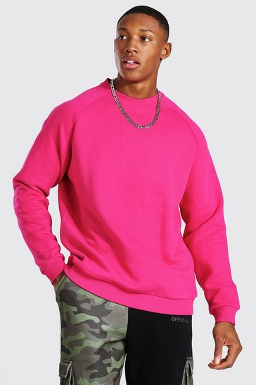 Pink Heavyweight Raglan Sweatshirt