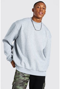 Grey marl grey Oversized Heavyweight Sweatshirt