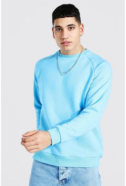 Bright blue blue Heavyweight Raglan Sweatshirt