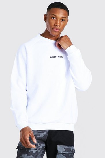 White Man Official Heavyweight Raglan Sweatshirt