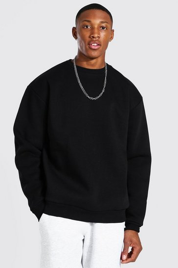 Black Oversized Heavyweight Sweatshirt