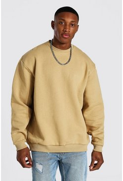 Sand beige Oversized Heavyweight Sweatshirt