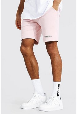 Pink Man Official Waistband Slim Mid Jersey Short