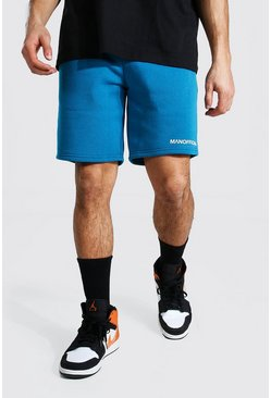 Short slim mi-long - MAN Official, Teal vert