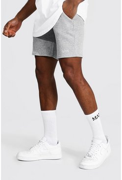 Grey marl grey Original Man Waistband Slim Mid Jersey Short