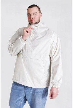 Off white white Plus Size Man Smart Packable Cagoule