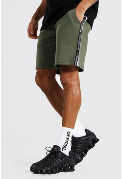 Khaki Man Official Tape Mid Length Regular Short