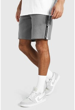 Charcoal grey Man Official Tape Mid Length Regular Short
