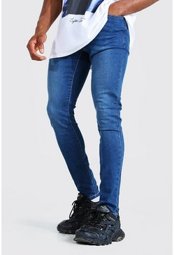 Mid blue blå Super skinny jeans med stretch