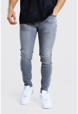 Super Skinny Stretch Jean, Mid grey gris