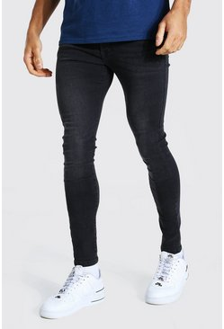Charcoal grå Super skinny jeans med stretch