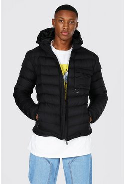 Black Utility Quilted Jacket
