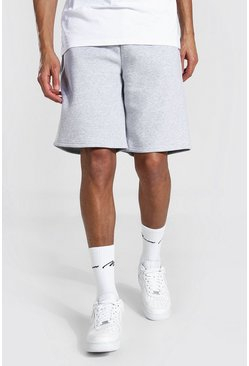 Grey marl grey Tall Basic Middellange Baggy Jersey Shorts