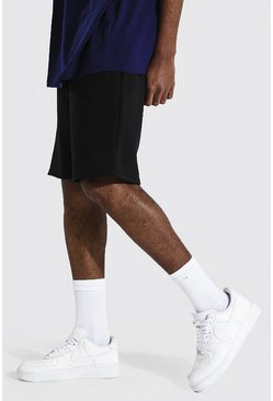 Black Tall MiddellangeBasic  Jersey Shorts