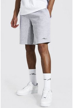 Grey marl grey Tall Middellange Man Signature Jersey Shorts