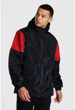 Black Tall Man Official Colour Block Cagoule