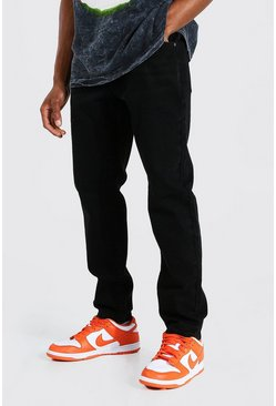 Jean skinny rigide, Washed black