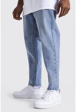 Light blue blue Tapered Fit Rigid Jean