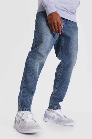 Vintage blue blue Tapered Fit Rigid Jean