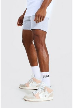 Grey marl grey Basic Short Length Slim Jersey Shorts