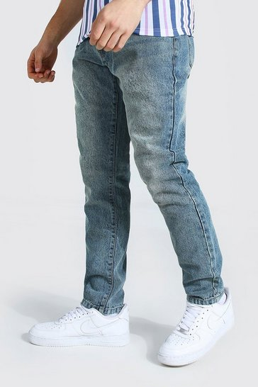 Vintage blue blue Slim Rigid Jean