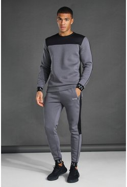 Charcoal grey Man Active Techpanel Sweatshirt Tracksuit