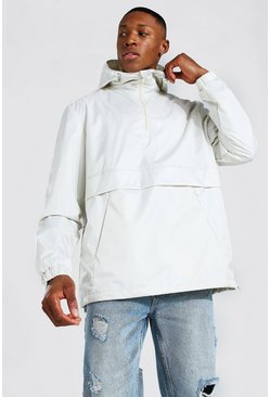 Off white white Man Smart Packable Overhead Cagoule