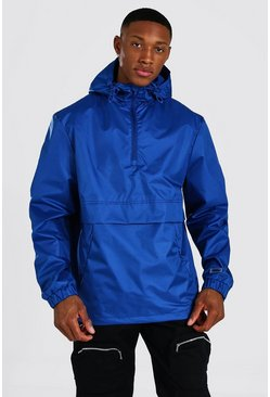 Man Smart Packable Overhead Cagoule, Navy azul marino