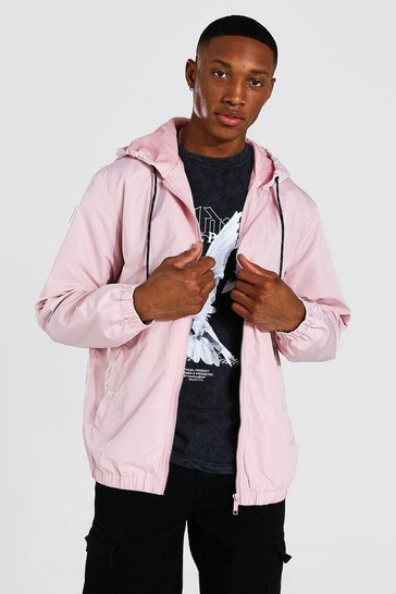 Pink Hooded Lightweight Zip Through Cagoule