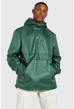 Man Smart Packable Overhead Cagoule, Khaki caqui