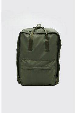 Khaki Nylon Backpack With Handles