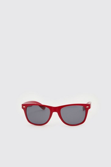 Red Man Wayfarer Sunglasses With Case