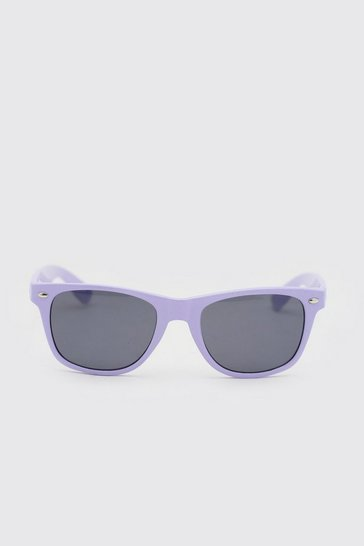 Purple Man Wayfarer Sunglasses With Case