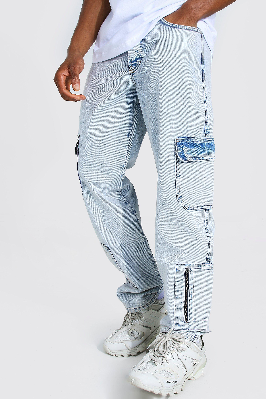 Men's Jeans Straight Leg Rigid Cargo Jean