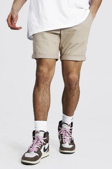 Stone beige Skinny Fit Chino Short