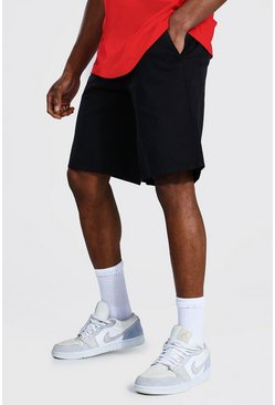 Relaxed Fit Chino Short, Black negro