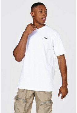 White Man Signature V-neck T-shirt