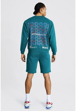 Green Tall Man Official Butterfly Short Tracksuit
