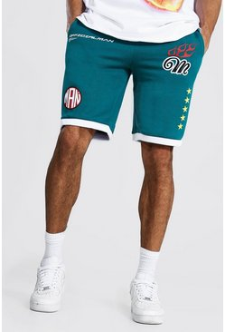 Green Tall Man Basketball Short