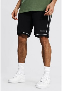 Black Tall Man Official Basketbal Shorts