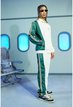 Ecru white Official Oversized Tricot Tracksuit
