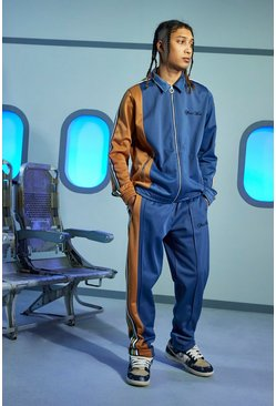 Navy Official Oversized Tricot Tracksuit