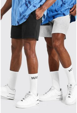 Multi 2 Pack Short Length Regular Jersey Shorts