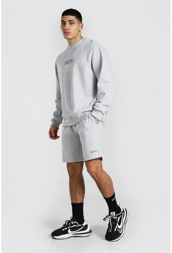 Grey marl grey Original Man Sweater Short Tracksuit