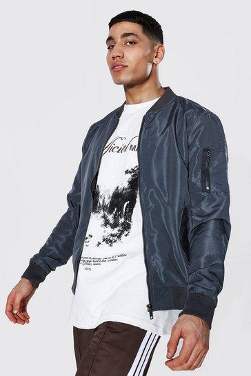 Charcoal grey Ma1 Bomber Jacket