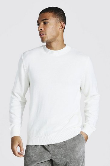 Cream white Turtle Neck Jumper