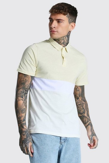 Sand beige Colour Block Polo